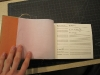 Japanese stab-bound recipe book, inside