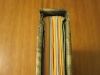 Looking down the spine of the water lilies codex bound book