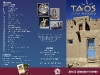 Taos, New Mexico Interim Brochure (Outside), InDesign and Photoshop, 2009