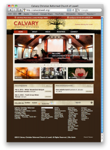 Calvary Christian Reformed Church of Lowell Website